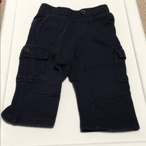 *6 for $30* Gymboree thick cargo navy pants 12/18m